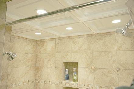suspended drop drop ceiling tile shower installation project kalorama bathroom pinterest