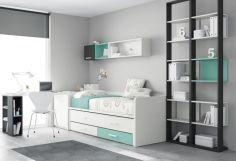 Dormitorio infantil juvenil moderno, 43-21 -