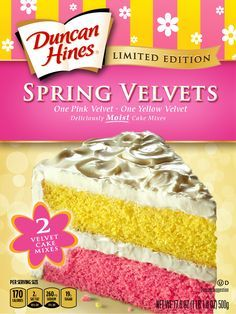 Duncan Hines Spring Velvets Cake Mixes Make Your Perfect Easter Cake!