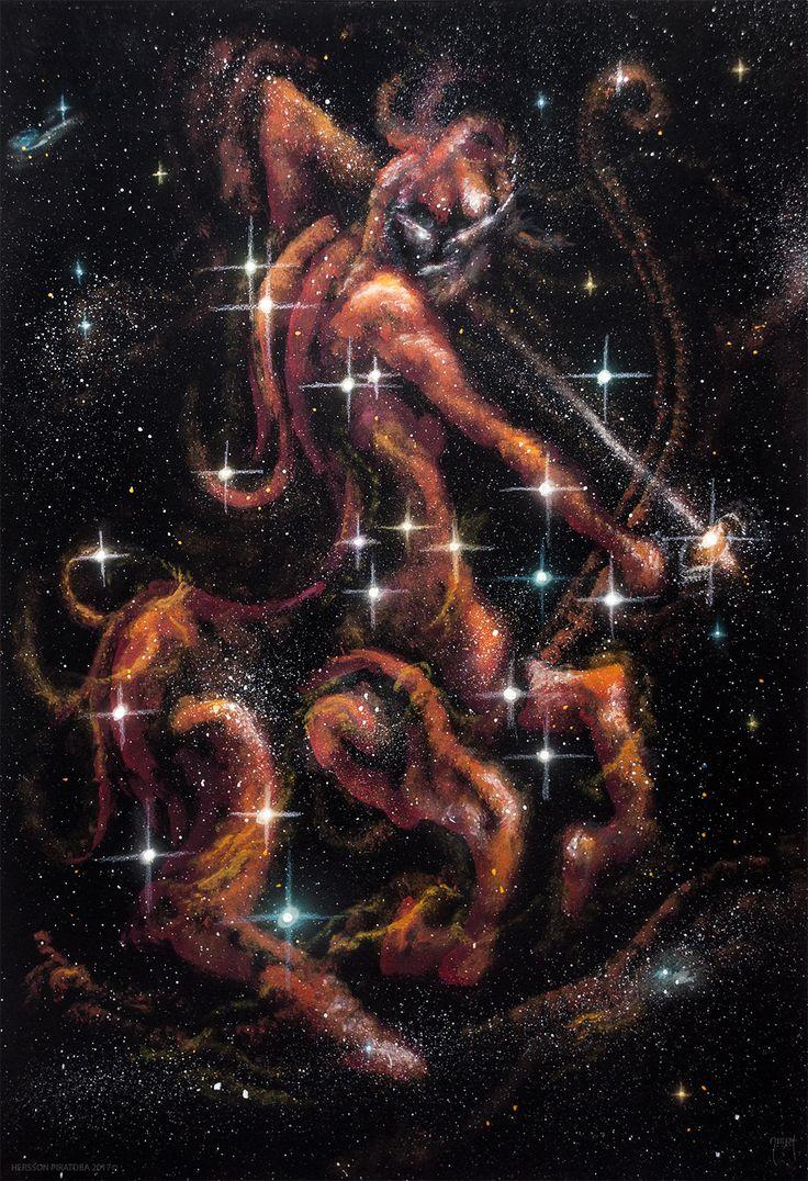 #Sagitario Constelacion #sagittarius  Acrílicos sobre Cartón Dimensiones: 50x 35 Cms