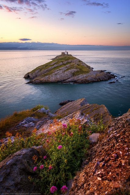 High up at Mumbles Lighthouse, Gower, Swansea, Wales by Fragga