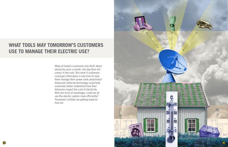 FMPA 2013 Annual: Collage illustrations