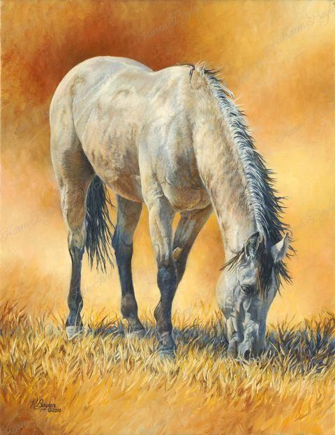 Buckskin horse painting by Karen Boylan