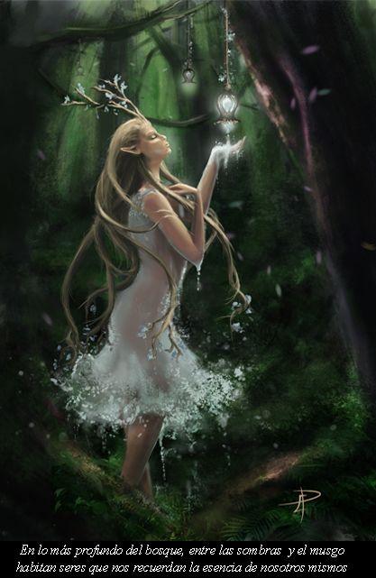 Ilustración Digital. Eva Perandones. En lo más profundo del bosque, entre las sombras y el musgo habitan seres que nos recuerdan la esencia de nosotros mismos.