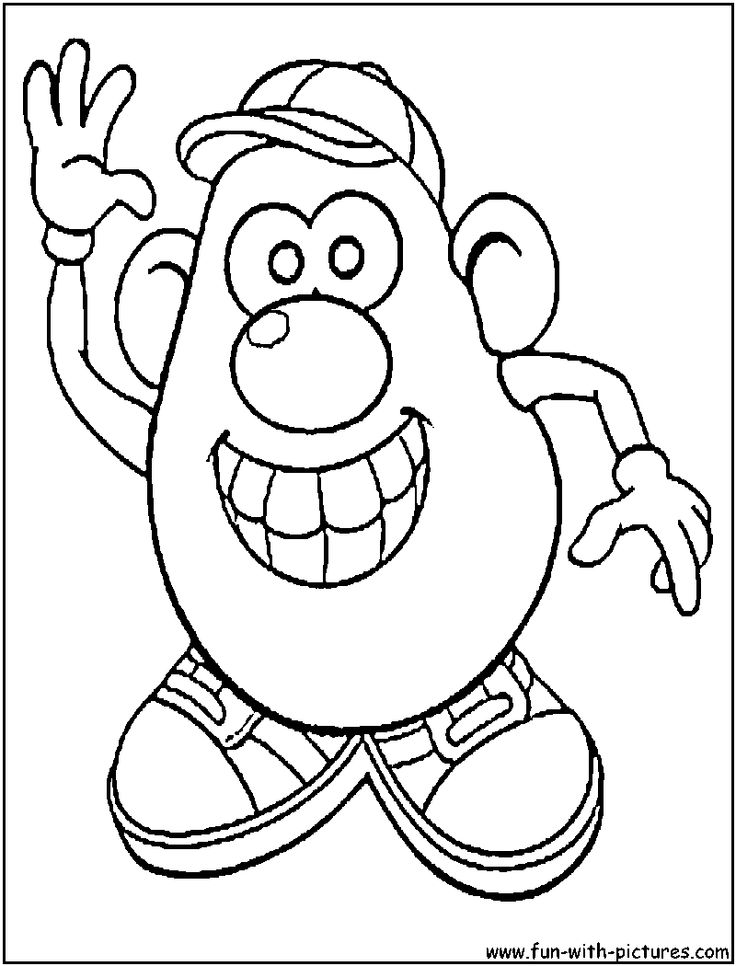 Mr Potato Head 2 Old Men Toy Story Coloring Page
