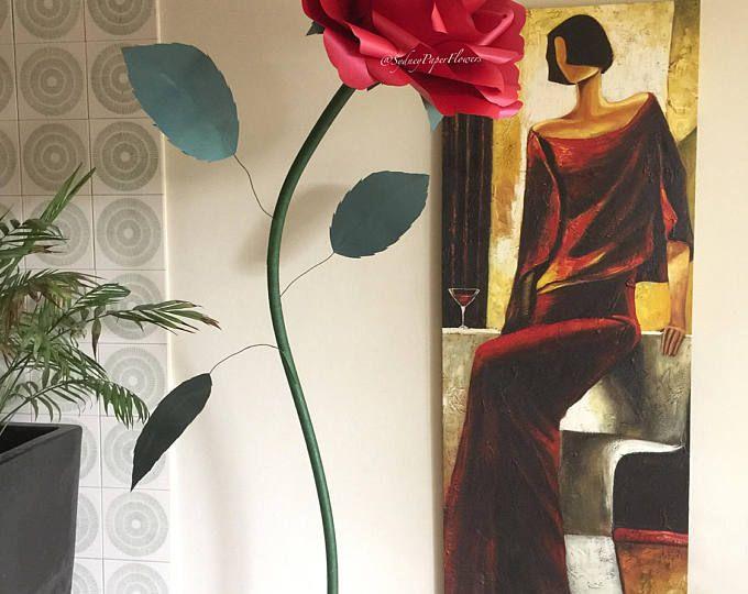 Mostrar la flor de papel gigante - flor de papel rosa libre/Home flores cumpleaños fiesta estilo boda Centro de mesa/de la ventana de la pared/de la boda