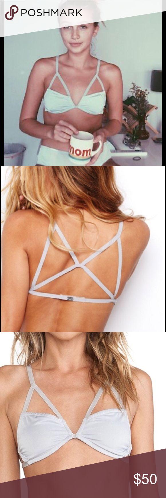 FL&L long line bondage bra For love & lemons gray  long line bondage  bralette For Love and Lemons Intimates & Sleepwear Bras