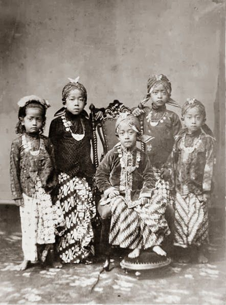 Javanese. Princes and princesses of the Yogyakarta Sultanate (1870)