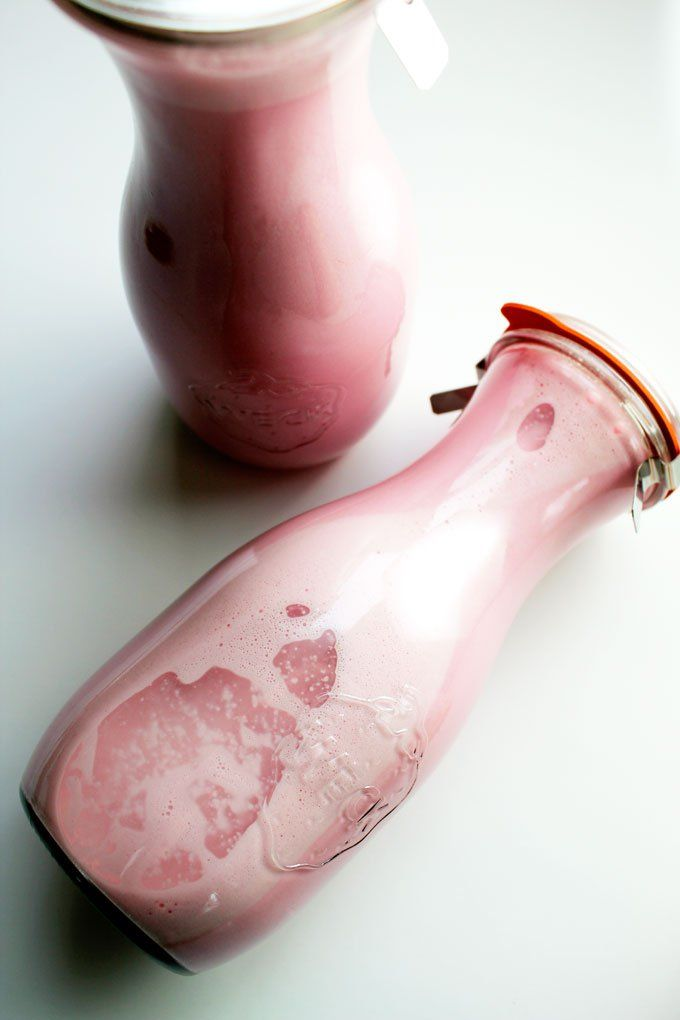 strawberry macadamia nut milk