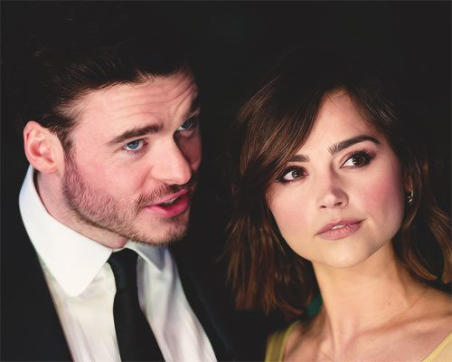 Richard Madden and Jenna Coleman at the London Premiere of Cinderella