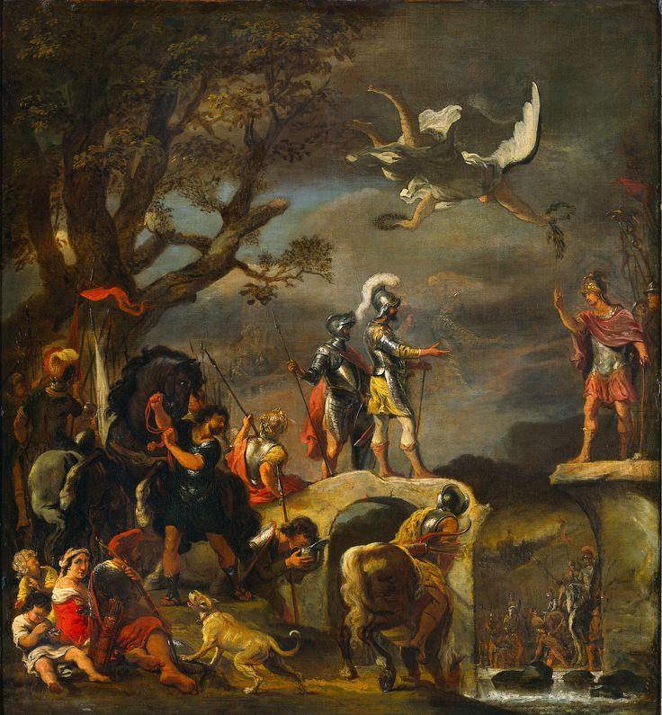 Ferdinand Bol - De vredesonderhandelingen tussen Claudius Civilis en Quintus Petillius Cerealis op de afgebroken brug
