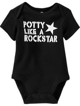 Im usually opposed to clever sayings on baby gear. But this made me giggle.