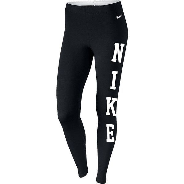 Nike Club Nike Leggings ($26) ❤ liked on Polyvore featuring activewear, activewear pants, nike sportswear, nike, nike activewear and nike activewear pants
