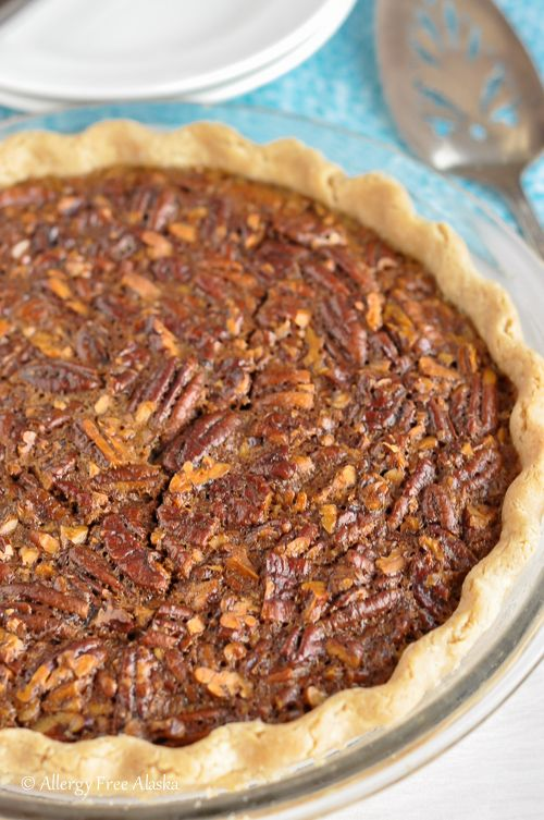 Totally amazing Gluten-Free Pecan Pie (Corn Syrup-Free, Refined Sugar-Free) | Allergy Free Alaska