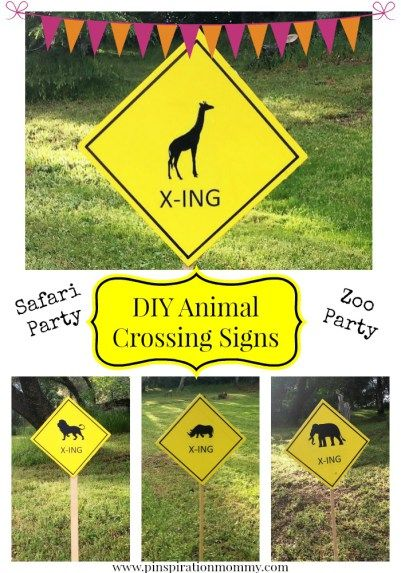 DIY Animal Crossing Signs Party Decor
