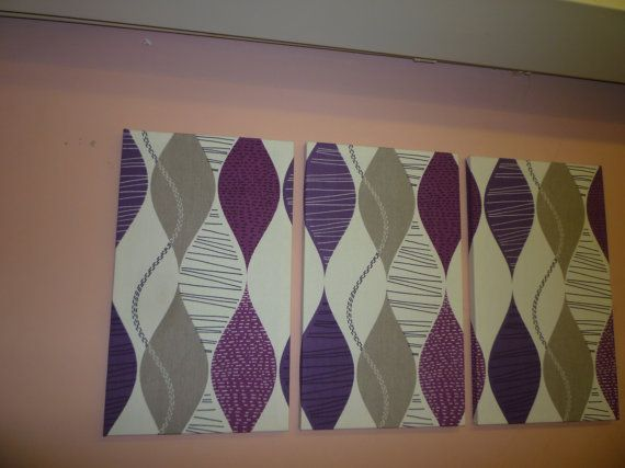 Big Fabric Wall Art Purple Teal Green Orange Red by WickedWalls, $70.00