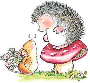 *Penny Black Rubber Stamp GUESS WHAT Hedgy Hedgehog Mouse 1449k