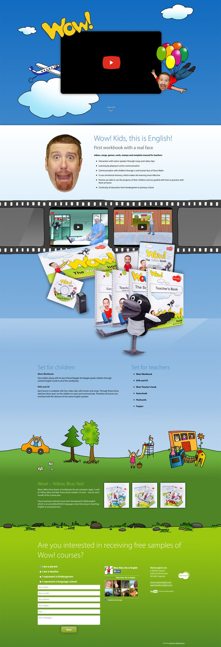 Microsite for project WOW! English #microsite #webdesign www.wowenglish.com