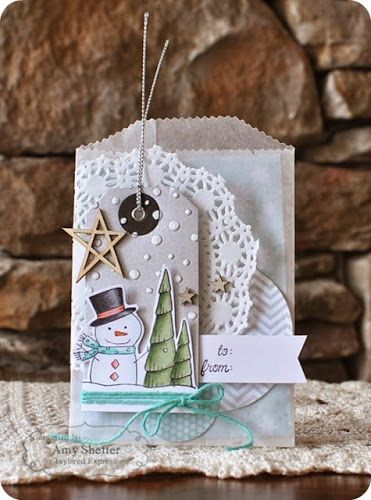 TE Blog Design Team: Instant Gift Bag! by Amy Sheffer #Christmas, #GiftGiving, #GiftBags, #EmbossingFolders, #TE, #ShareJoy, #BlogTeam