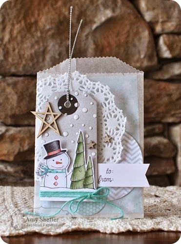 TE Blog Design Team: Instant Gift Bag! by Amy Sheffer #Christmas, #GiftGiving, #GiftBags, #EmbossingFolders, #TE, #ShareJoy, #BlogTeam