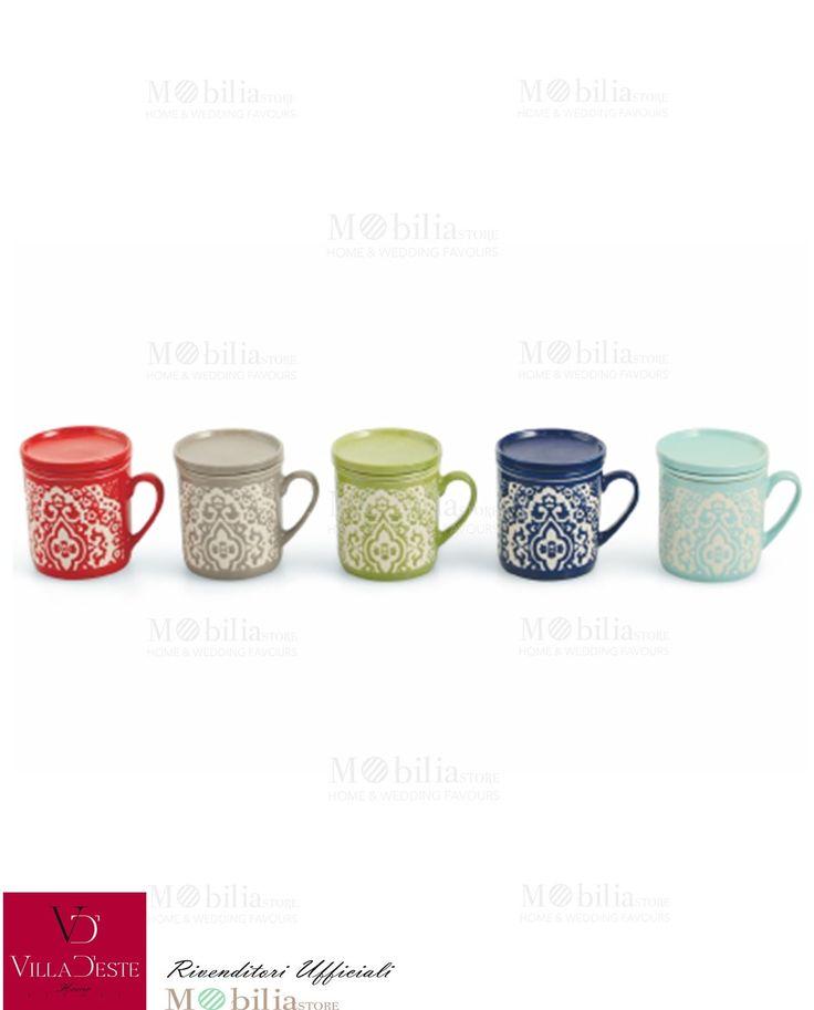 Infusiera in Ceramica stile Marocco di Villa d'Este meravigliosa non solo come tisaniera ma anche come tazza o barattolo per conservare caramelle e tanto altro. Scopri le eccezionali offerte su Mobilia Store!