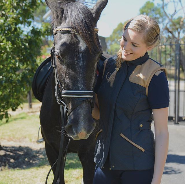 Horseriding vest from Foxtrot Horsewear Beautiful #horse riding polo shirt, riding outfit inspiration!  Shop the look in our store, we ship worldwide https://www.foxtrothorsewear.com #equestrian #equestrianfashion #ridingfashion #rootd #dressage