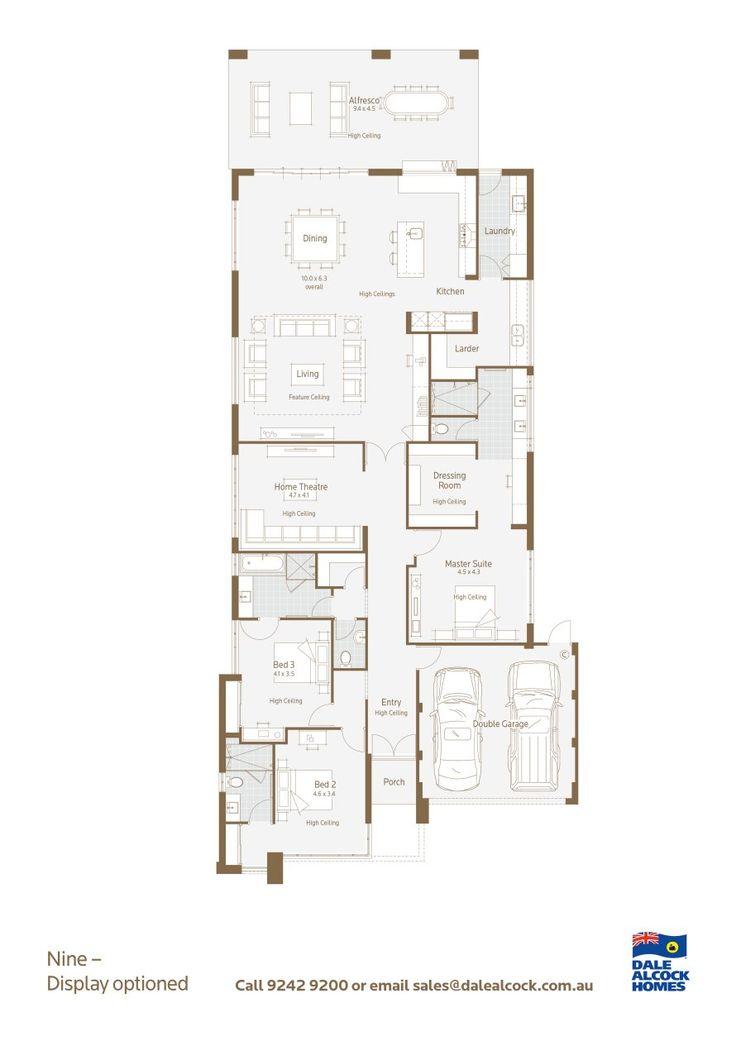 Nine Floorplan -love the kitchen/laundry http://www.dalealcock.com.au/New-Homes/Display-Homes/Nine/Build/Floor-Plan/