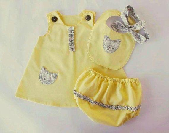 Cert. organic 4-piece baby dress setorganic by OrganicMinikins