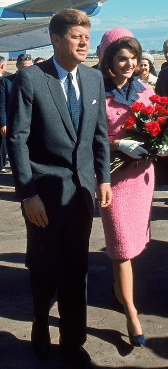 With President John F. Kennedy arriving at Love Field during campaign tour on day of his assassination. Nov. 22, 1963.