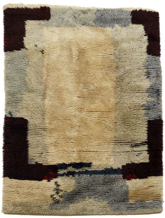 Anonymous; Wool Rya Rug, 1960s.