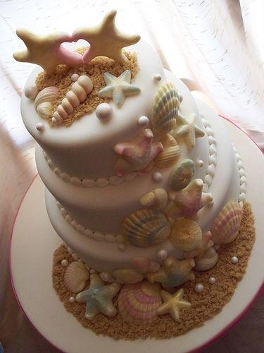 torta nozze conchiglie bianca