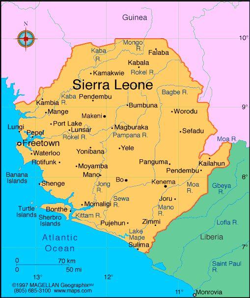 sierra leone map | leone sierra leone profile history government economy population ...