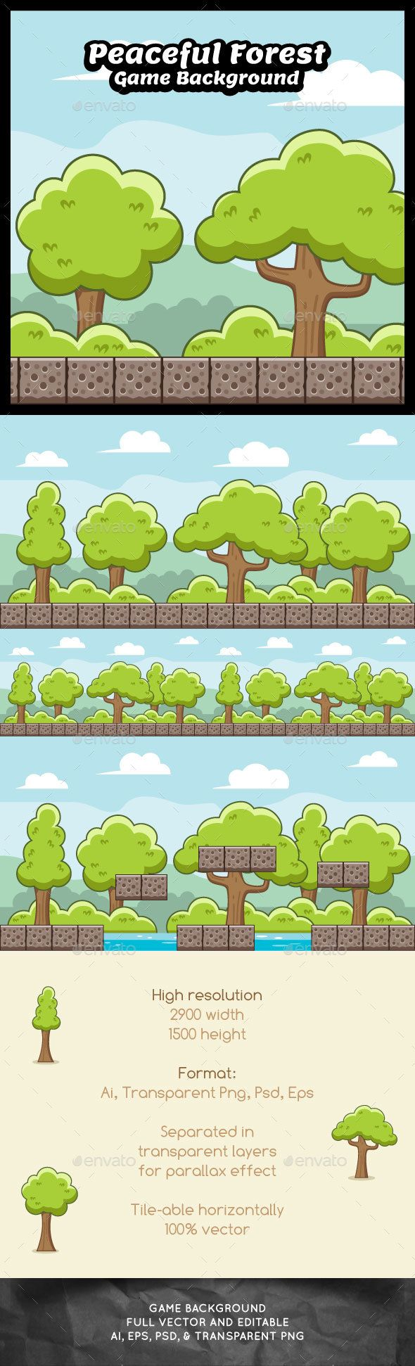 Peaceful Forest Game Background (Backgrounds)