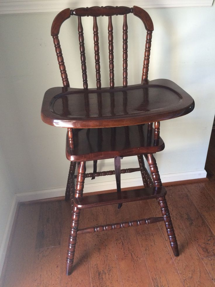 Vintage Wooden High Chair, Jenny Lind, Antique High Chair, Vintage High Chair…