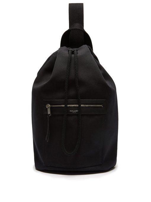 dd82fc47527c SAINT LAURENT City Sailor canvas drawstring backpack. #saintlaurent ...