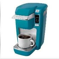 Keurig® Mini Plus Personal Coffee Brewer -Turquoise Aqua - http://www.teaandcoffeemaker.com/single-serve-brewers/keurig-mini-plus-personal-coffee-brewer-turquoise-aqua/