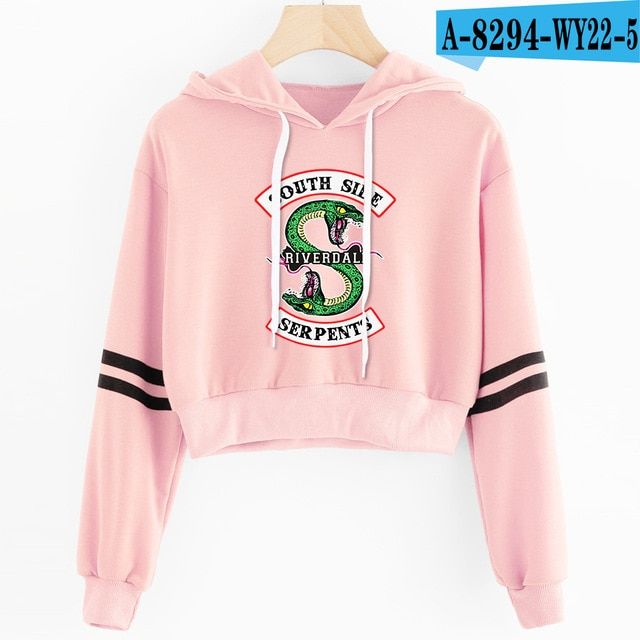 Riverdale Crop Top Hoodie 36 Varian In 2019 Riverdale Crop Top