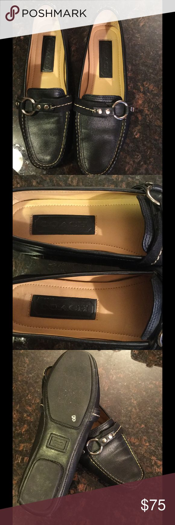 Coach leather driving loafers 100% AUTHENTIC soft black leather coach loafers or driving shoes....is a brand-new  I can't tell you If I ever even put them one I really dint think I did there and 100% excellent brand-new condition totally forgot I even bought them but very comfortable you have any questions please feel free to ask thank you for looking and happy poshing Coach Shoes Flats & Loafers