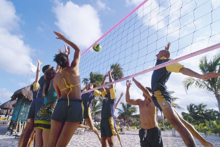 Volleyball competitions at #Iberostar Paraiso Lindo are traditional. Join the team and do a bit of exercise on the beach! #sport #beach #fun #StarFriends