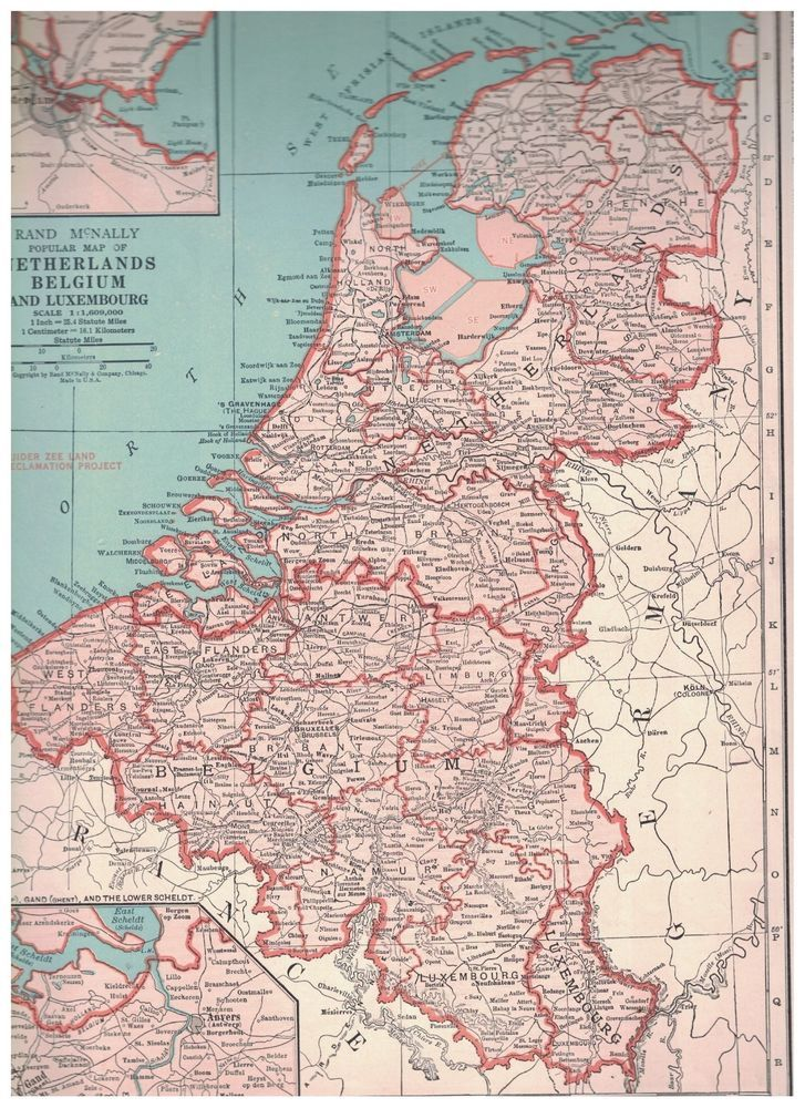 Map Of France Belgium And Luxembourg.1942 Map Of Netherlands Belgium And Luxembourg Map Of France On