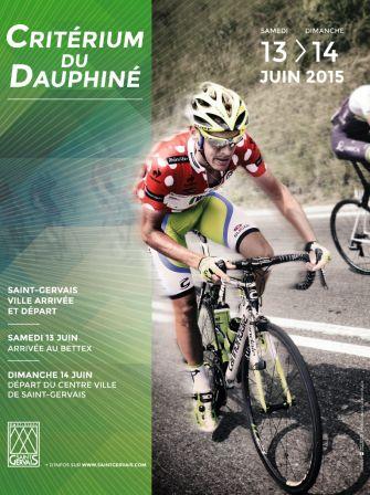 Le Criterium du Dauphiné 2015 fera étape à St Gervais.  http://21virages.free.fr/blog/index.php?post/2014/08/21/Criterium-du-Dauphine-2015-quelques-rumeurs