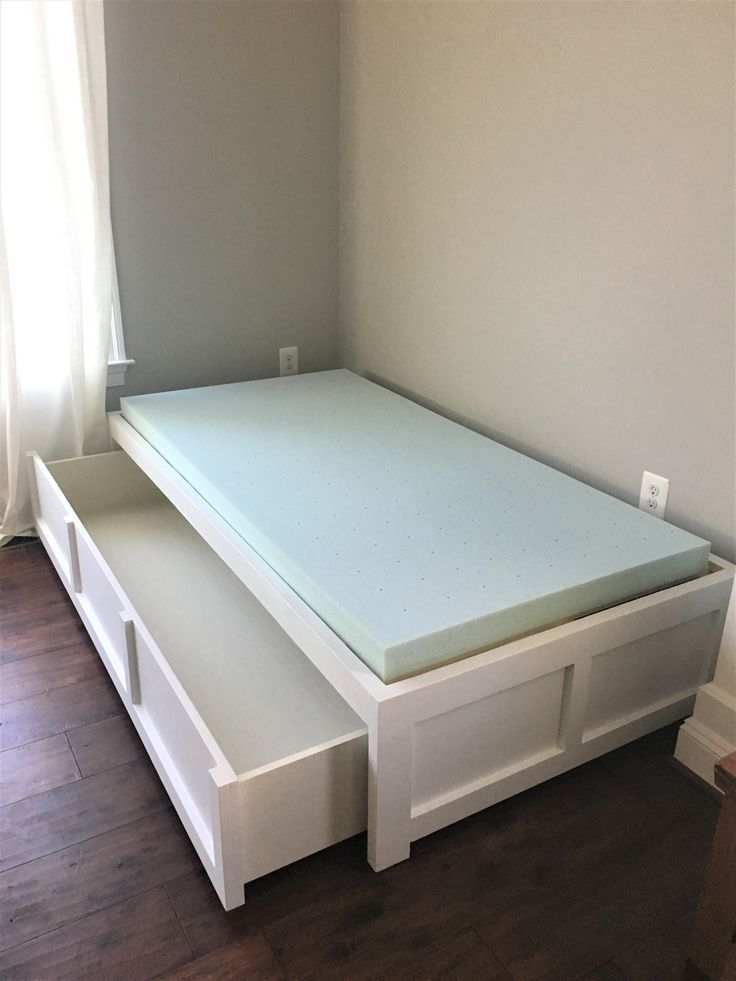 Ana White Daybed with Storage - DIY Projects DIY Furniture in