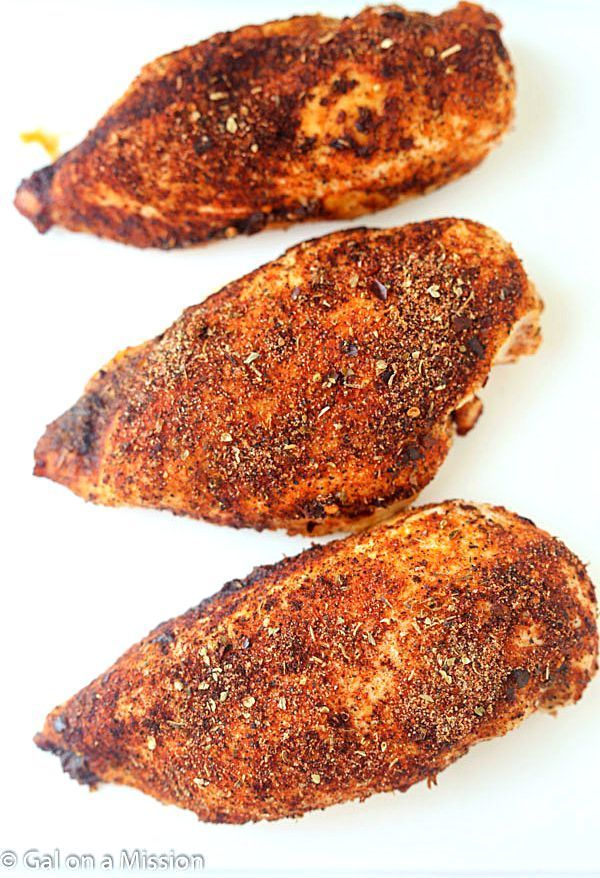 Baked Cajun Chicken Breasts - I cut the salt down and made these, super yummy! Great seasoning combo. I cut the crushed red pepper down a little too out of fear it would be too spicy. Perfect!