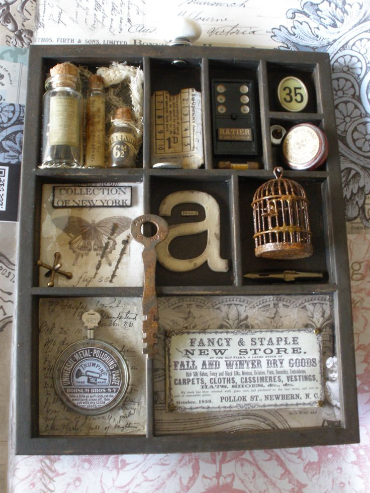 Love this little shadow box! / from A Mark In Time