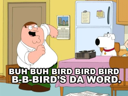 "And of course, whenever Peter sings ""Bird Is The Word."" 