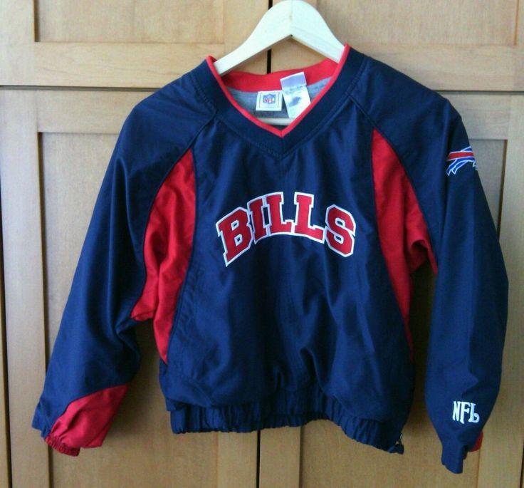 NFL Boys Football Buffalo Bills Windbreaker Jacket Size 8 -10 Zip up Warm Kids   | eBay