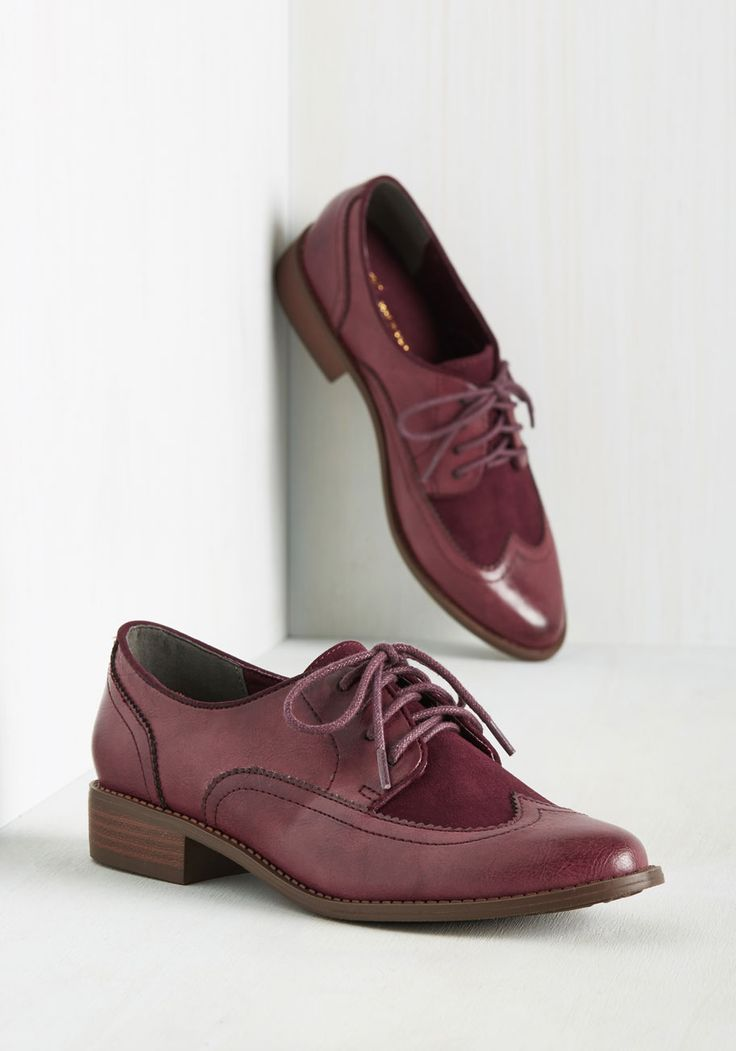 Every Day of the Sleek Flat in Burgundy. When you find flats as dapper as these burgundy Oxfords by BC Footwear, you dont let them go! #red…