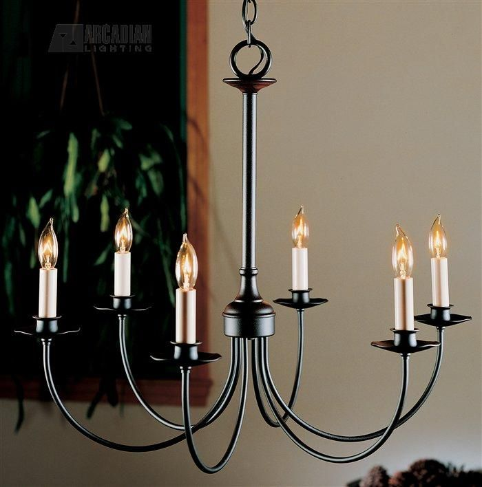South Shore Decorating: Hubbardton Forge 107060 Simple Lines Transitional Candle Chandelier HF-107060