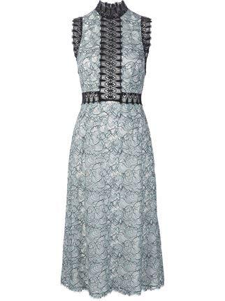 Yigal Azrouel кружевное платье с высоким горлом
