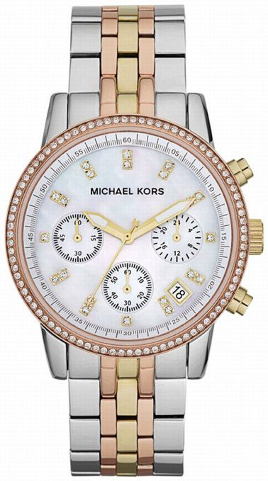 Michael Kors Women's MK5650 Ritz Tri-tone Watch I think I love this one the most.